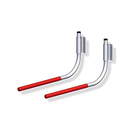 Gedotec Fahrradhalter Wand-Halterung Fahrrad-Haken klappbar gummiert 550 x 270 mm | Tragkraft 30 kg | Fahrrad-Halterung für die Wandmontage | Wandhaken zum Schrauben | 1 Paar - Fahrrad Gerätehalter
