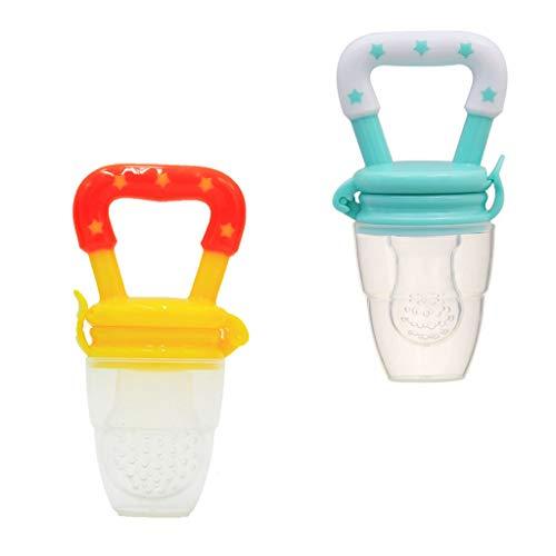 Cuteelf Night Silikon-Schnuller - Größe 1, von Geburt an, 0-6 Monate - Nacht-Leuchtschnuller, Nuckel leuchtend, für neugeborene Babys, Sterne blau - 3 Stück