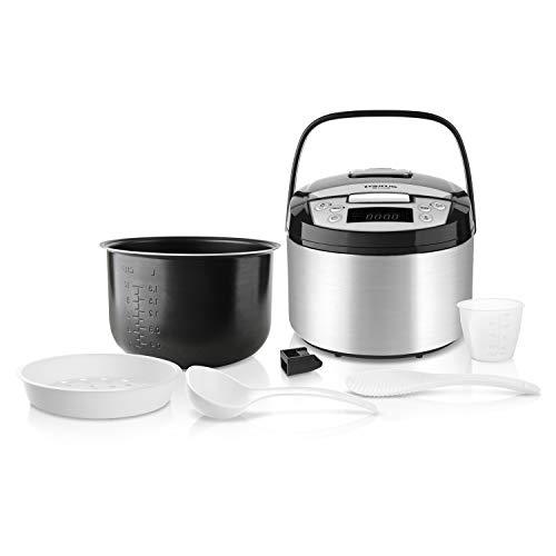 Taurus Top Cuisine Programmierbare Kochmaschine, abnehmbarer Behälter 5 l, 12 Timer 24 h, spezielle Programme, Edelstahl, Silber