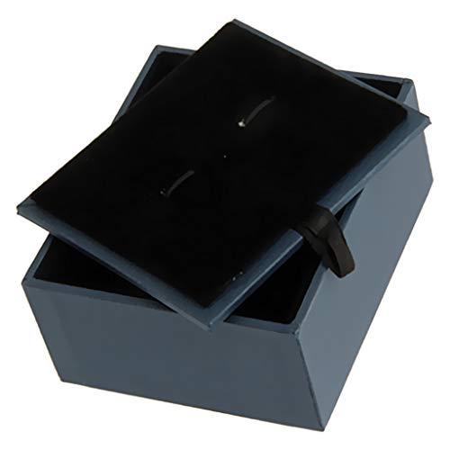 sharprepublic Charm Manschettenknöpfe Schmuck Aufbewahrungsbox Organizer Fall Manschettenknöpfe Display Box Halter
