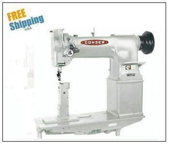 Best Buy! Consew 228R-11 Single Needle Heavy Duty, High Speed, Post Type Lockstitch Sewing Machine