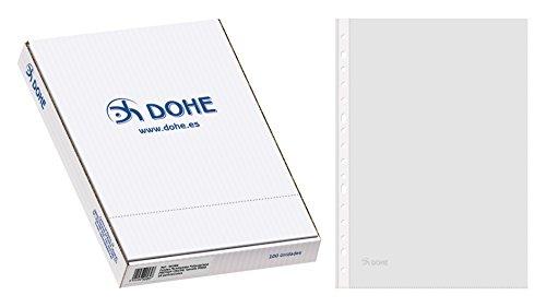 Dohe 90584 - Pack de 100 fundas multitaladro, folio, Cristal