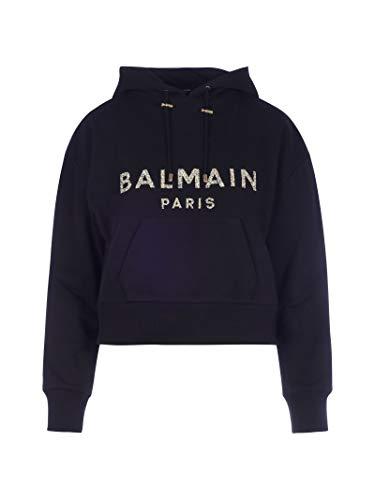 Balmain Luxury Fashion Damen UF13792I510EAD Schwarz Baumwolle Sweatshirt | Herbst Winter 20