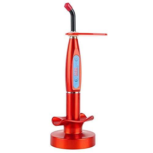 Dental Aushärtung Maschine Zahnpflegesets Drahtlose Dental Lichthärtungsmaschine Zahn Curing LED Lampe für eine bessere Aushärtung des Harzes (Rot)