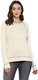 AMERICAN CREW Women's Poly Cotton RoundNeck Sweatshirt