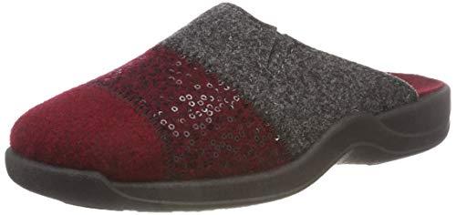 Rohde Damen Vaasa-D Pantoffeln, Rojo (weinrot 48), 41 EU