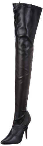 Pleaser SEDUCE-3063 Damen Stiefel, Schwarz (Blk str pu), EU 36 (UK 3) (US 6)