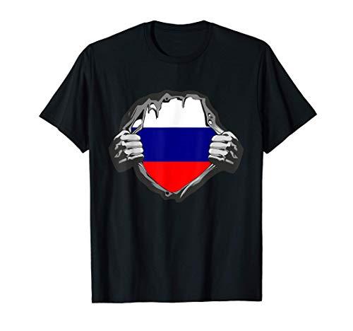 Russland Flagge - Russische Fahne T-Shirt