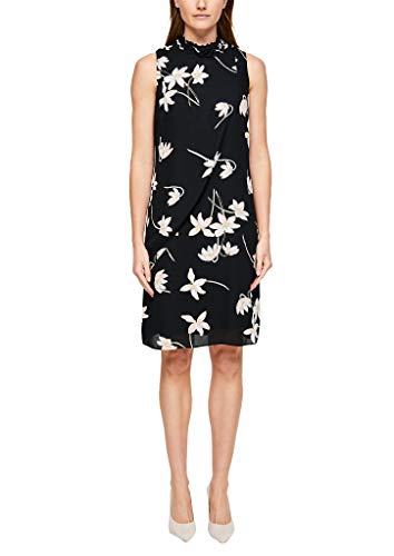 s.Oliver BLACK LABEL Damen 150.10.003.20.200.2013902 Kleid, Black AOP, 44