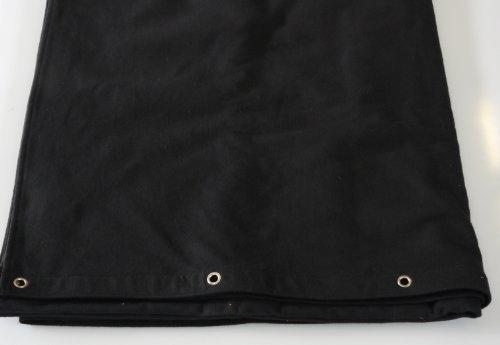 Bühnenvorhang grösse wählbar Farbe:schwarz B1 Molton 300gr/m geöst (300 * 300cm)