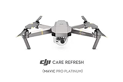 DJI Mavic Pro Platinum - Care Refresh Warranty for Mavic Pro Platinum (12 Months), Two Replacement Units Within A Year, Water Damage Coverage, Rapid Support, Drone Warranty, Mavic Pro Accessories
