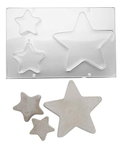 efco 9500005 Gießform Sterne 3-teilig, klar, DIN A4