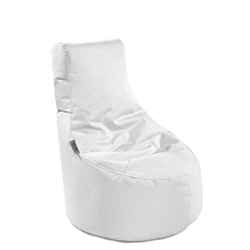 Outbag Slope XS' Outdoor-Sessel, Kinder-Sitzsack, Deluxe Skin, Weiß