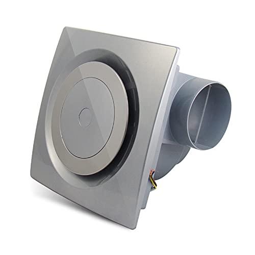 Ventola di scarico Ventilatore di scarico del condotto circolare Ventola del soffitto del soffitto della famiglia con valvola di ritegno 25 × 2 5 CM. Ventilatore di scarico silenzioso ventilazione, ar