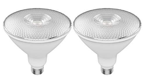GE Refresh HD Flood Light Dimmable LED Light Bulbs, PAR38 LED Flood Light (120 Watt Replacement LED Bulbs), 1300 Lumen, Medium Base Light Bulbs, Daylight, 2-Pack LED Floodlights, Title 20 Compliant