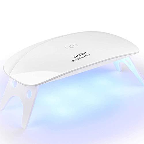 UVライト LEDネイルドライヤー 硬化ライト レジン用 日本語取扱説明書付 タイマー設定可能 折りたたみ式 手と足両用 UVとLEDダブルライト ジェルネイル レジンクラフト用 …