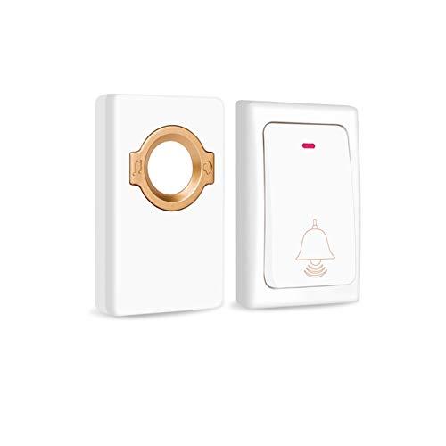 YAOLUU Timbre del Sensor de Timbre Smart Wireless Doorbell Inicio Conveniente buscapersonas Aviso de buscapersonas sin batería Botón Autogeneración Volumen Ajustable Timbre Impermeable