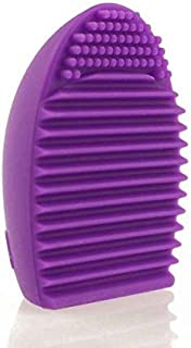 Silicone Gel Makeup Washing Brush Cleaner Egg Scrubber Tool (Purple) Color:Purple