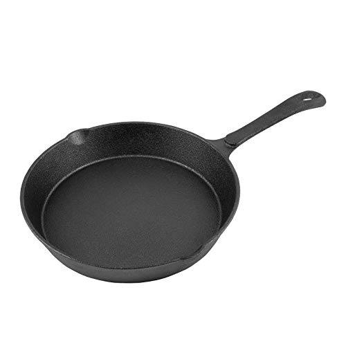 6 Inch Cast Iron Skillet Pan Small Frying Pan, Pre-Seasoned for Non-Stick Like Surface, Cookware Oven/Broiler/Grill Safe, Kitchen Deep Fryer, Restaurant Chef Quality