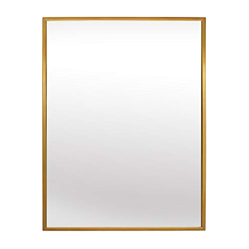 Elegance by Casa Chic – Large Metal Wall Mirror – 70x50 cm rectangle – Electroplated Metal – Gold