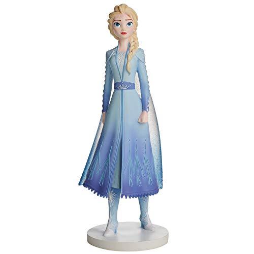 Enesco Disney Showcase Frozen II Elsa Figurita, Resina de Piedra, Multicolor, 8.39 Inch