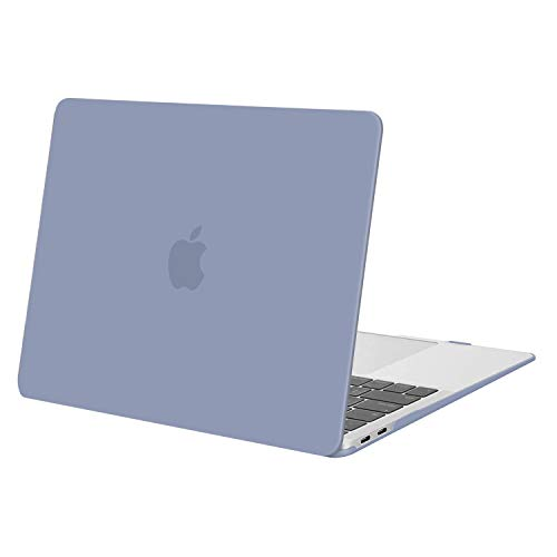 MOSISO MacBook Air 13 inch Case 2020 2019 2018 Release A1932 A2179 with Retina Display, Plastic Hard Case Shell Cover Only Compatible with MacBook Air 13 inch with Touch ID, Lavender Gray