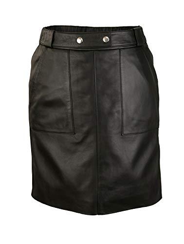 Zerimar Falda de Piel Mujer | Falda Mujer | Falda Larga Mujer | Falda Mujer Cuero Elegante | Falda Piel Larga | Falda Mujer Casual (XL, Negro)