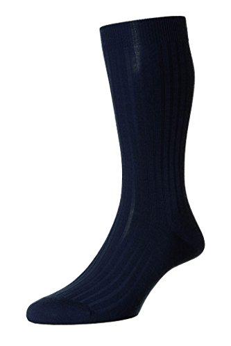 Pantherella Herren 1 Paar gerippte Socken aus Merinowolle - Marine 46-48