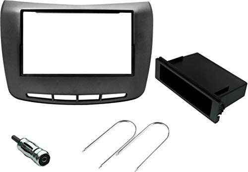Sound Way Kit Montaggio Autoradio, Mascherina 1 DIN / 2 DIN, Adattatore Antenna, Chiavi di Smontaggio compatibili con Lancia Delta