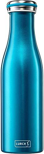 Lurch 240851 Thermos per Bevande Calde e Fredde, in Acciaio Inox a Doppia Parete, 0,5 l, Colore: Blu Acqua, Inossidabile, Azzurro