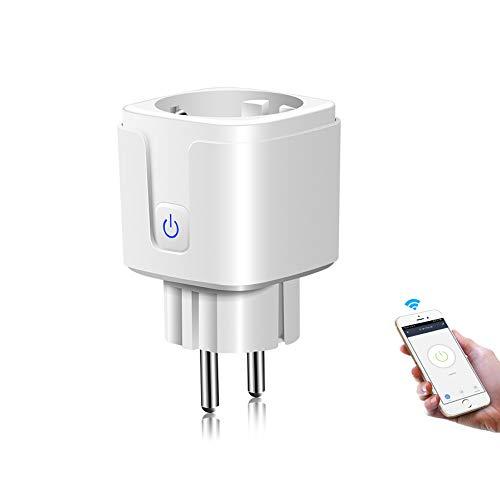 Enchufe WiFi inteligente, toma de corriente para monitor de 16 A, funciona con Alexa Google Home, mini enchufe inteligente con función de temporizador