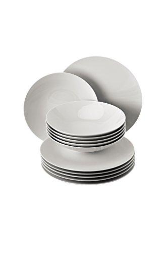 Rosenthal - TAC Gropius Tafelset 12- teilig - Weiß (Speiseteller Ø 28 cm/Suppenteller Ø 24 cm)