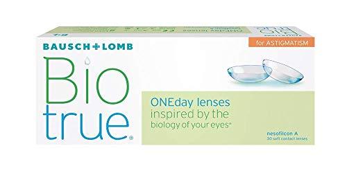 Biotrue ONEday for Astigmatism Tageslinsen weich, 30 Stück / BC 8.4 mm / DIA 14.5 mm / CYL -0.75 / ACHSE 90 / +0.25 Dioptrien