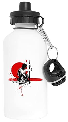 Basura Polca - Hembra Samurai Aluminio Blanco Botella de Agua Con Tapón de Rosca Aluminium White Water Bottle With Screw Cap