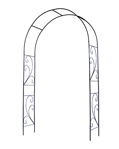 F-XW Metal Pergola Arbor, Garden Arch, Arbour for Rose Climbing Plant Wedding Bridal Party Decoration Wide Archway
