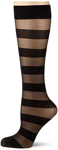 FALKE Damen Minimal Lines Socken, schwarz (black 3009), 35-38