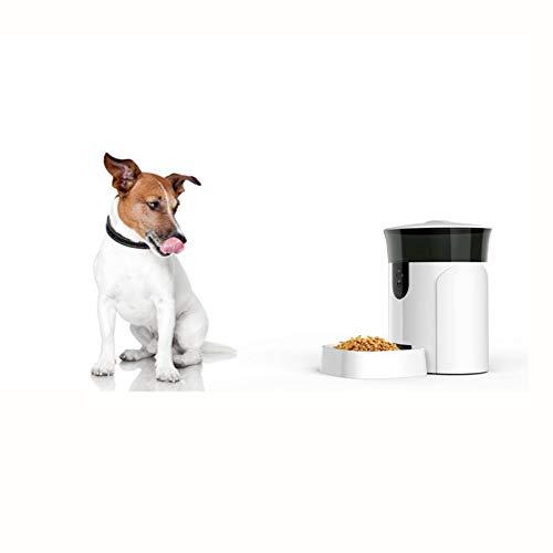 Alimentador automático para perros y gatos, alimentador automático para mascotas de 6 litros, alimentador cuantitativo de tiempo para alimentos para perros y gatos, con función de video con cámara