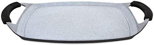 Menax - Plancha de Asar - Aluminio Fundido - Recubrimiento Antiadherente - 36 * 22 cm - Inducción
