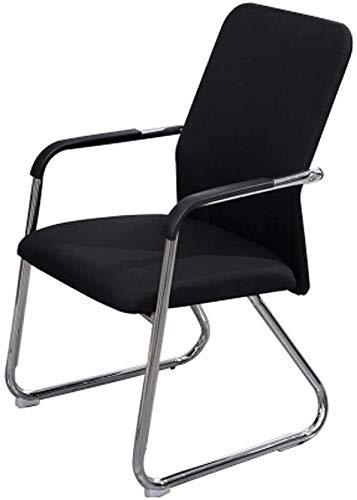 FHW Ergonomisch, Bow Rückenlehne for Home/Office/Personal/Konferenzraum/Student/Wohnheim/Arbeitszimmer Schwarz 53x53x86CM (Farbe: Schwarz, Größe: 53x53x86CM) FACAI