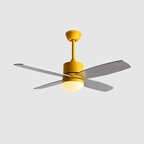 LED Luz de techo / Araña de luces Lámpara de ventilador minimalista moderna minimalista LED de hierro forjado + Lámpara de ventilador de la tienda en casa de fábrica de madera de la casa -106cm Nivel