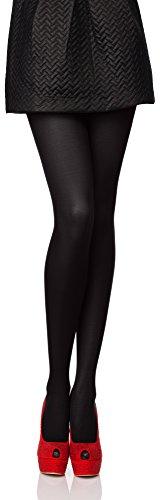 Antie Medias Panty en Microfibra Lencería Sexy Mujer 40 DEN (Negro, M (Talla Fabricante: 3))