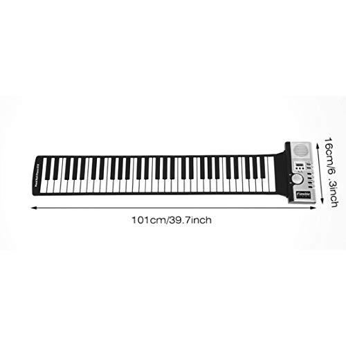 61 teclas 128 tonos Roll Up Teclado de piano electrónico