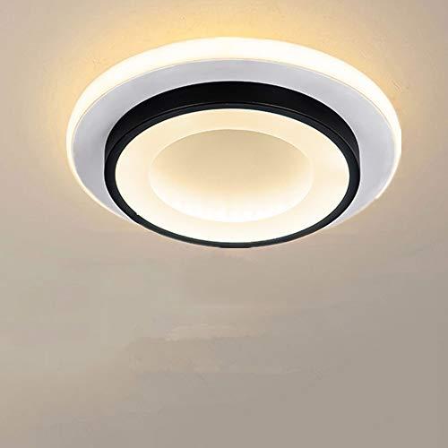 Goeco Lámpara de techo LED 20W, Plafon LED de techo Redondo Moderno, para Dormitorio Balcón Pasillo Sala, Ø24cm * H5cm, 3000K-6500K (3 temperaturas de color)