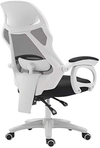 YONGYONGCHONG Silla de oficina giratoria silla de oficina, asiento reclinable de malla ergonómica con masaje lumbar silla de ordenador (color: negro)