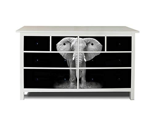 banjado Möbelaufkleber passend für IKEA Hemnes Kommode 8 Schubladen | Selbstklebende Möbelfolie | Sticker Tattoo perfekt für Wohnzimmer und Kinderzimmer | Klebefolie Motiv Ella