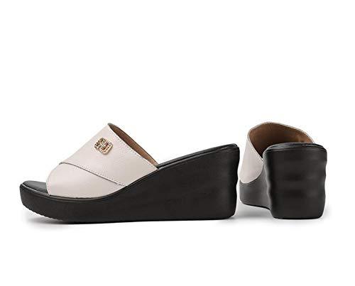 Eva Toe Post-teenslipper voor dames,Dames pantoffels met hak,comfortabele sandalen met zachte bodem en pantoffels-white_39,Top Unisex-volwassen teenslippers