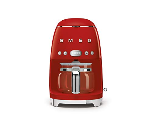 Smeg Drip Filter Coffee Machine, Red, 10 cup