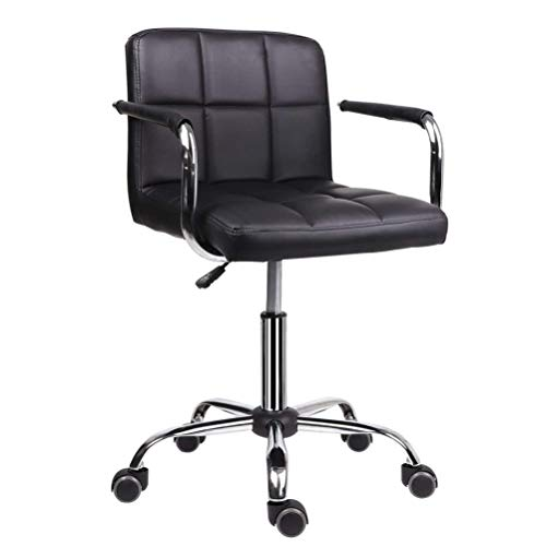 YUI Office Chair PU Leather Ergonomic Desk Chair Adjustable Task Chair High-Back Executive Swivel Chair Computer Chair with Armrests Headrest and Lumbar Support,Black