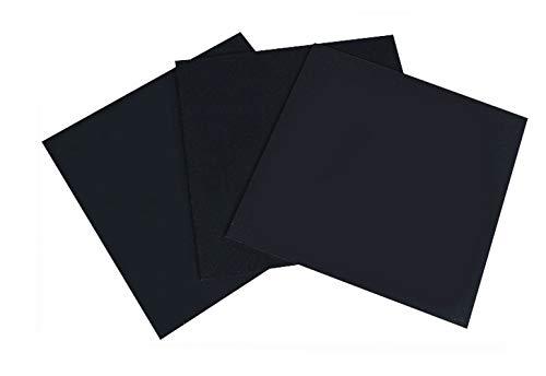 PVC Zwarte plaat Kunststof Zwart Plaatmaat 100 * 100mm Dikte 1mm