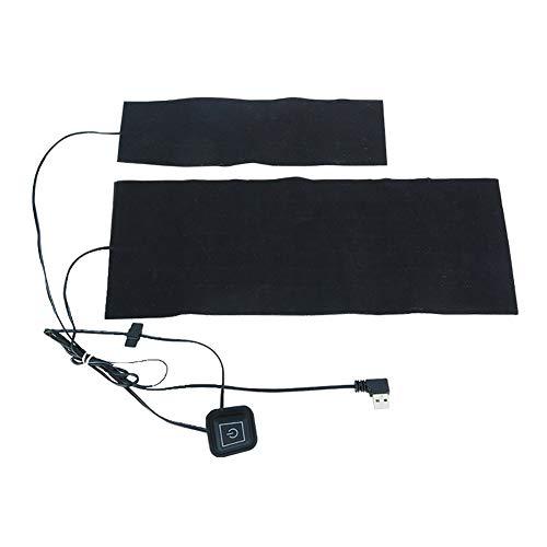 Allsunny Paño Calefactor USB 2-en-1 Invierno 5V USB Almohadilla Calefactora Eléctrica Cuello Cintura Calentador Trasero Paño Calentado Negro
